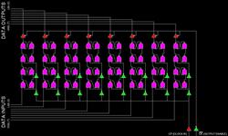 8bit D Flip Flop NAND Circuit