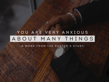 You Are Very Anxious About Many Things
