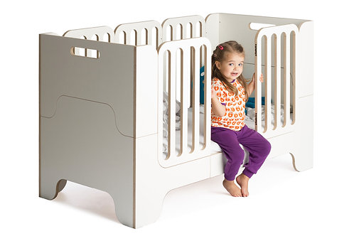 Minimalmaxi Kinderbett mitwachsend / 0 - 10 Jahre