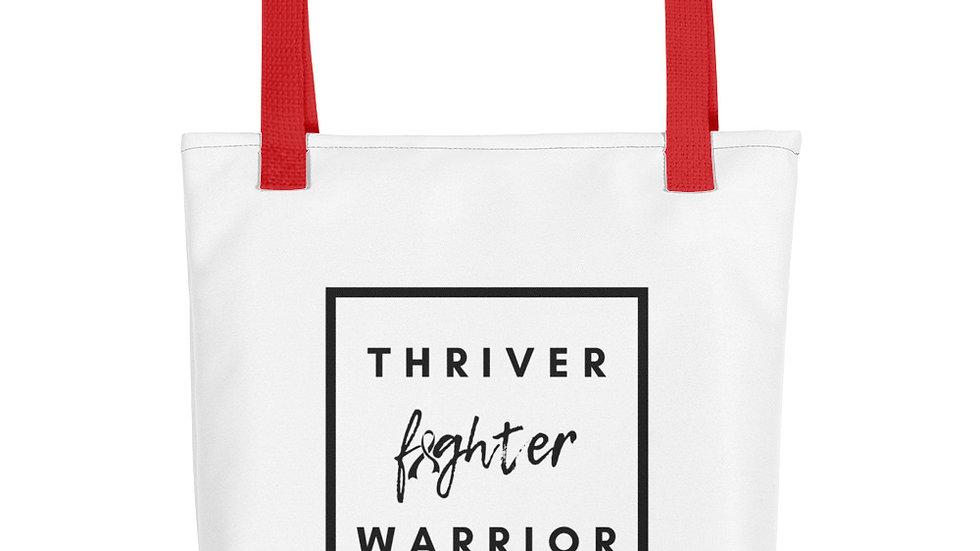 Thriver Fighter Warrior Tote bag