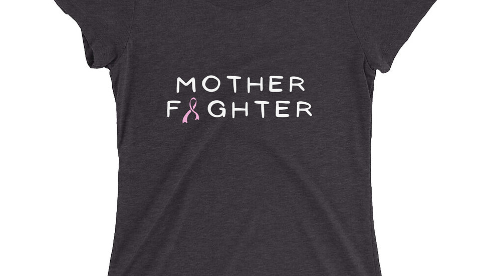 Light Pink Ribbon Mother Fighter Tee