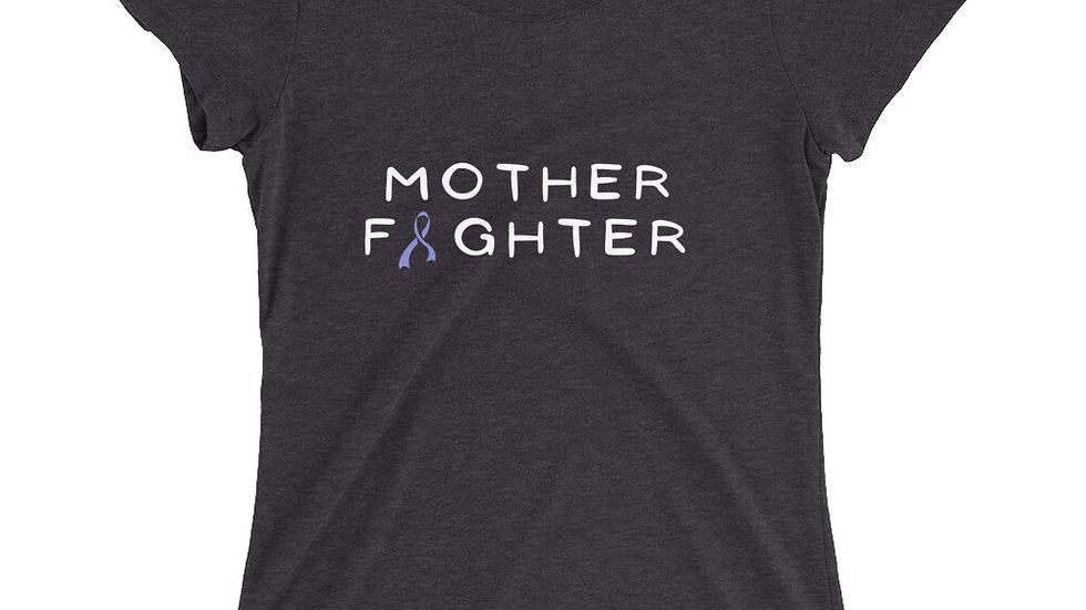 Blue Ribbon Mother Fighter Tee