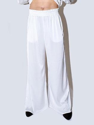 Ezra, off-white, wide-leg pants