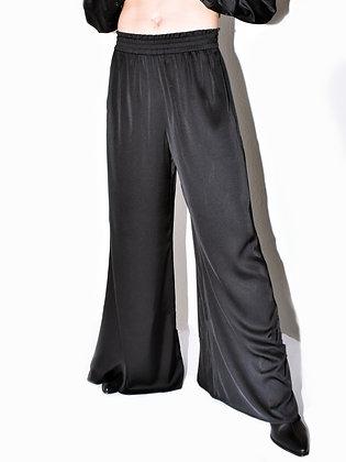 Ezra, black, wide-leg pants