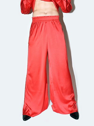 Ezra, red, wide-leg pants