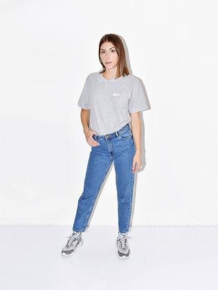 Harper, grey polo shirt