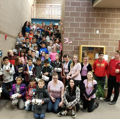 Winter event for 67 students in Colorado