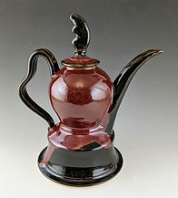 8 Sectional Teapot in Red facing right.j