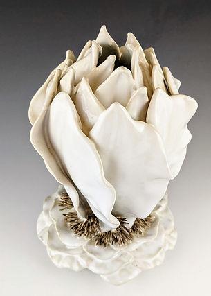 61 White Sculptural Leaf Vase 2.jpg