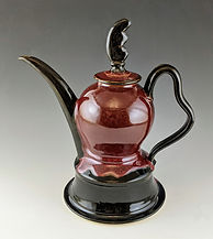 8 Sectional Teapot in Red facing left.jp