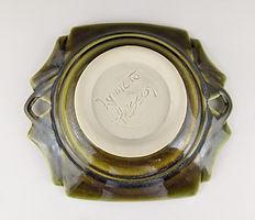 48 Light Olive Green Geometric Low Bowl