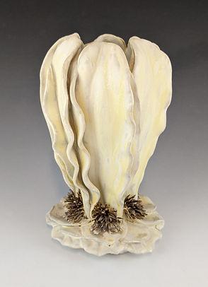 60 Yellow Sculptural Leaf Vase Side.jpg