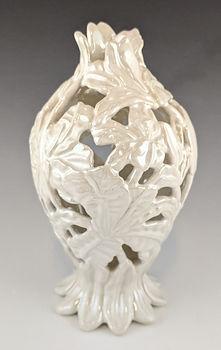 62 Lustered White Lily Vase 3.jpg