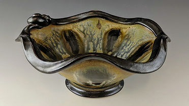 29  Thrown Rim Bowl, with double drips,