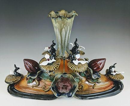 Steve Loucks, Elongated Floral Vase, 120