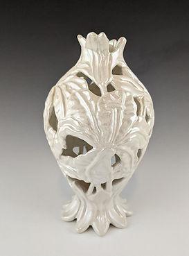62 Lustered White Lily Vase 2.jpg