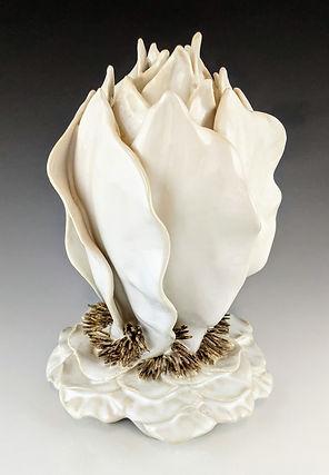 61 White Sculptural Leaf Vase.jpg