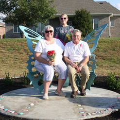 Laura, Linda and Bud Martin