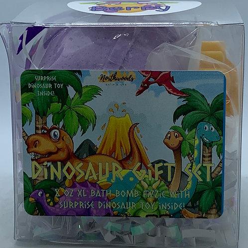 Colossal Dinosaur (Black Raspberry Vanilla) XXL 8 oz Bath Bomb Gift Set