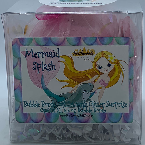 "Mermaid Splash ""Wondermelon"" 5.5 oz Bubble Bomb Gift Set"