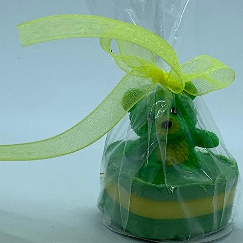 """Squishy Green Teddy Bear 1 oz """"Snuggable"""" Soap"""