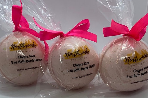 Chypre Rose - Three (3) XL 5.5 oz Bath Bomb Fizzies