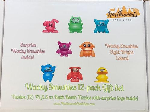Large 5.5 oz Wacky Smushies 12-pack Bath Bomb Gift Set