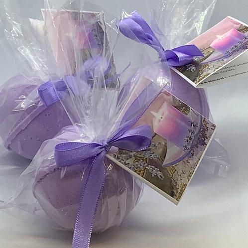 Lavender - Three (3) XL 5.5 oz Bath Bomb Fizzies