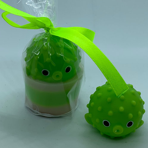 """Water Squirter """"Puffer Porcupine Fish"""" 1.3 oz Jelly Bean Soap"""