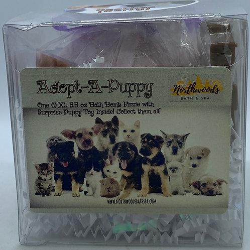 "Adopt-A-Puppy ""Peaches"" 5.5 oz Bath Bomb Gift Set (Berry)"
