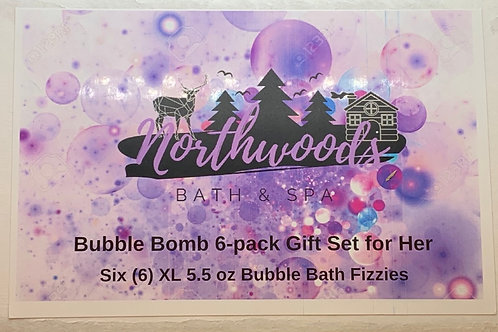 Bubble Bomb 6-pack Gift Set for Her