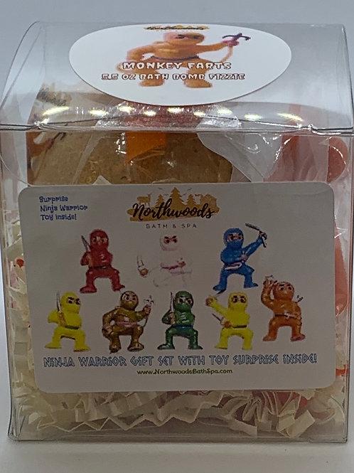 Ninja Warriors (Monkey Farts) 5.5 oz Bath Bomb Gift Set