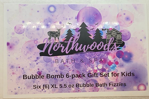 Bubble Bomb 6-pack Gift Set for Kids