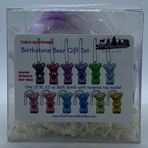 Birthstone Bears Keychain (June) 5.5 oz Bath Bomb Gift Set