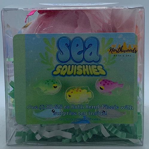 Sea Squishies (Watermelon Sorbet) 5.5 oz Bath Bomb Gift Set