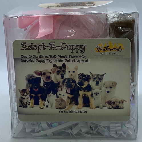 "Adopt-A-Puppy ""Charlie"" 5.5 oz Bath Bomb Gift Set (Sweet Pea)"