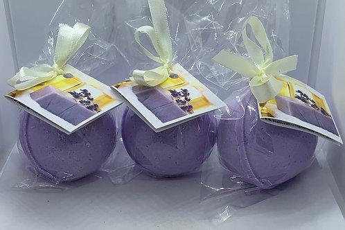 Lavender Luxury - Three (3) XL 5.5 oz Bath Bomb Fizzies