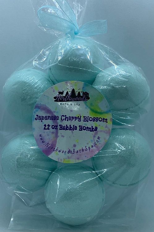 Japanese Cherry Blossom 7-pack Bubble Bombs