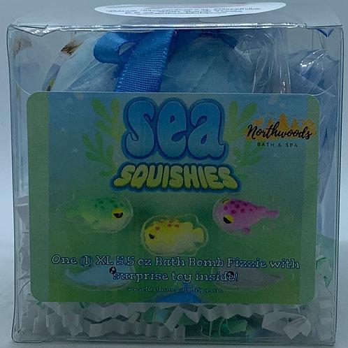Sea Squishies (Blue Raspberry Slushie) 5.5 oz Bath Bomb Gift Set