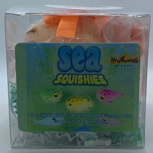 Sea Squishies (Ginger Peach) 5.5 oz Bath Bomb Gift Set
