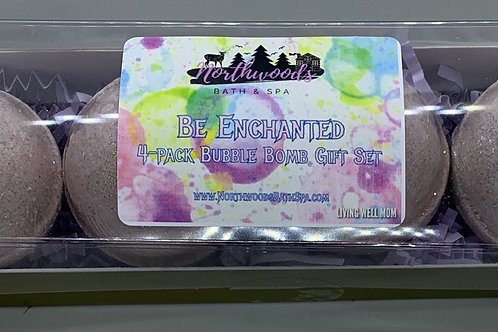 Be Enchanted 4-pack Bubble Bomb Gift Set