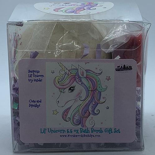 Lil' Unicorns (Cotton Candy) 5.5 oz Bath Bomb Gift Set
