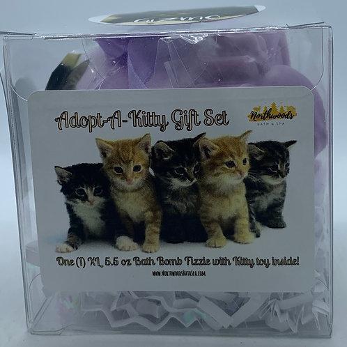"Adopt-A-Kitty ""Gizmo"" 5.5 oz Bath Bomb Gift Set (Black Raspberry Vanilla)"