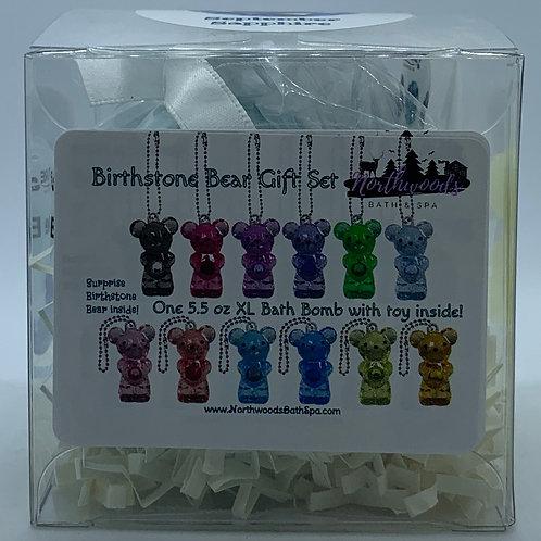 Birthstone Bears Keychain (September) 5.5 oz Bath Bomb Gift Set