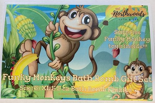 Funky Monkeys 6-pack Bath Bomb Gift Set
