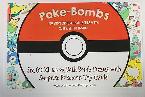 Poke-Bomb 6-pack Bath Bomb Gift Set