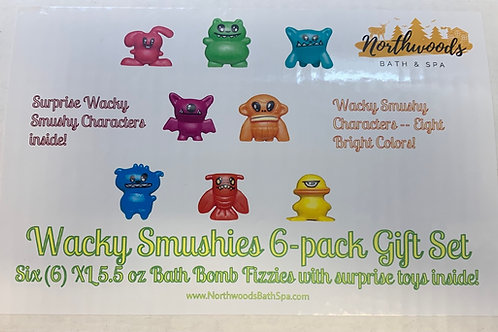 Wacky Smushies 6-pack Bath Bomb Gift Set