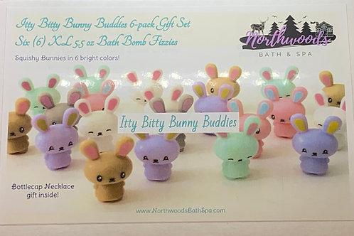 Itty Bitty Bunny Buddies 6-pack Bath Bomb Gift Set