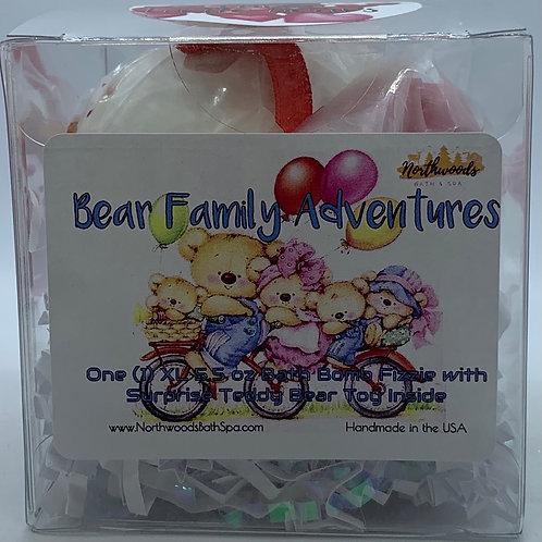 """3 Little Bears"" (#2) Bear Family Adventures (Hugs) 5.5 oz Bath Bomb Gift"
