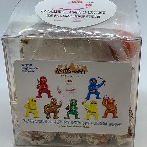 Ninja Warriors (Oatmeal, Milk & Honey) 5.5 oz Bath Bomb Gift Set